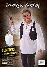 Camiseta Pirata Blanco Marinero Hombre Hombre Fiesta de Disfraces Talla Única