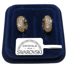 Orecchini da donna pl. oro giallo Cerchio 18K cristalli swarovski veri SW8/9