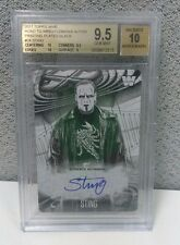 2017 TOPPS WWE ROAD TO WRESTLEMANIA STING AUTO BLACK PLATE BGS GEM MINT TRUE 1/1