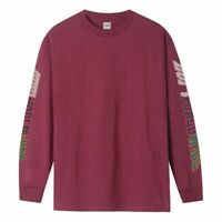 HUF Mens SUSPENSION CLASSIC H LONG SLEEVE T-SHIRT Red Pear Shirt Huf Worldwide
