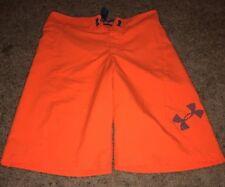 Under Armour Storm1 Boys Men Sz 27 Loose Fit Heat Gear Board shorts Orange