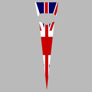 ROYAL ALLOY GP 125 200 300 HORN CASTING OLD LAMBRETTA UNION JACK DECALS GRAPHICS