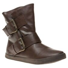 New Womens Blowfish Brown Coldem Synthetic Boots Ankle Buckle