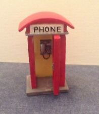 Old Style Collectible Ceramic or Resin London Phone Booth for Christmas Scene 3""