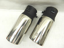 Dual Stainless Muffler Exhaust Tips PM556 Bolt On 2.50 to 3.25 Pipe Weld On 3.5""
