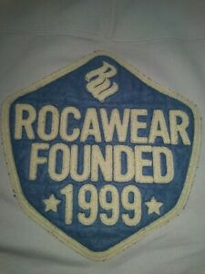 Vintage Rocawear Sweater Mens Size Large Blue and white