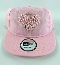 New York Knicks Baseball Snapback Hat New Era 9Fifty Retro Crown Pink Pastel