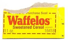 Ralston Waffelos Cereal Purchase Seal From Box - Late 1970s - Early 1980's