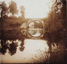 Pont de pierre Briance Photo Stereo Verre cassé Positive Vintage 1923