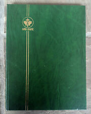 Uni-Safe Stamp Stock Book - Green, White Pages - UNUSED