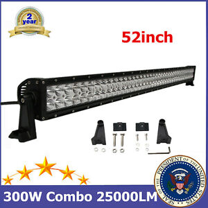 52''inch 300W LED Combo Light Bar Fits Driving UTE Chevrolet Roof Vehicles 48/51