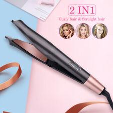 2 In1 Curling Iron Hair Straightener PRO Tourmaline Ceramic Spiral Curler Stick