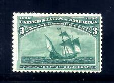 US Stamps - #232 - MH - 3 cent 1893 Columbian Expo Issue - CV $35