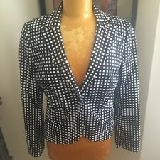 Tory Burch Jacket Dark Blue, Black And White Check Size 6 NWOT