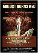 AUGUST BURNS RED/PROTEST THE HERO 2017 MINNEAPOLIS CONCERT TOUR POSTER-Metalcore