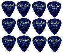 FENDER  Premium Celluloid Plectrums - Pack of 12 picks -  Blue - Heavy 351 Shape