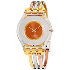 Swatch Skin Tri-Gold Multicolored Dial Stainless Steel Ladies Watch SFK240A