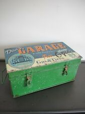 Vintage Retro Style Garage Metal Storage Box Container