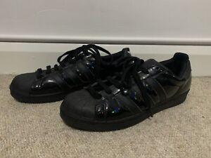Adidas Original Superstar Black With Iridescent Black Size 8