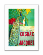 COGNAC DRINK BEVERAGE PEACOCK COLOURFUL Poster Canvas art Prints