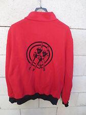 VINTAGE Veste CLUB ADIDAS rouge ALC BOUGUENAIS ROLLER SKATING tracktop jacket L