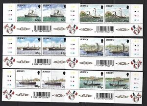 JERSEY 2001 MARITIME LINKS WITH FRANCE MARGINAL PAIRS UNMOUNTED MINT, MNH
