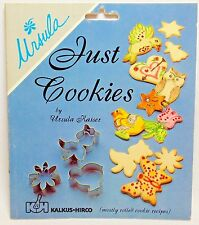 JUST COOKIES By Ursula Mostly Rolled Cookie Recipes Decorating Ideas Cookbook