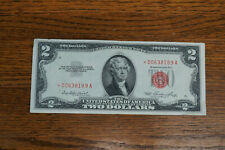 1953 Star $2 Bill Red Seal United States Note