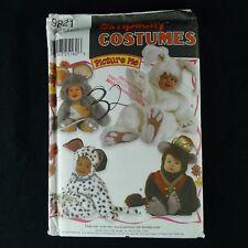 Simplicity Toddler Costume Pattern 9821 Uncut Mouse Bunny Dog Monkey Size .5 - 4