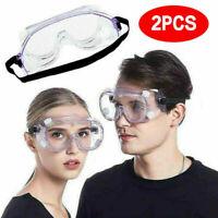 2x Lunettes de Protection des yeux Lunettes de sécurité Travail Anti-poussière