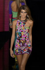 VERSACE RUNWAY S/S 2003 Silk Floral Mini Dress Sz IT 40 US 4/6