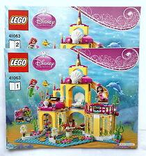 Lego Original Bauanleitung für Disney Princess Ariel's Undersea Palace 41063 Neu