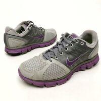 @@ Nike lunarglide 2 Sz 8.5 Eu40 Women's Running Shoes Gray/Purple Athletic EUC