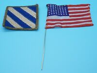 WWII 3rd Infantry Division DI Unit Patch & 48 Star U.S. Flag Lot Of 2