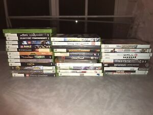Lot of heavy scratched / mild scratched xbox and wii video games