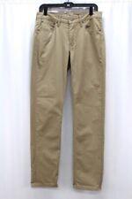 mens khaki LEVIS 511 commuter slim fit stretch jeans denim pants 32 x 32