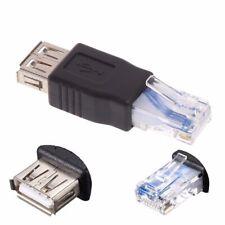 Adattatore Convertitore Ethernet Internet da RJ45 Maschio a USB Femmina