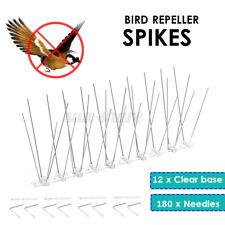 12x Stainless Steel Spikes Plastic Anti Pigeon Nail Bird Deterrent Repeller