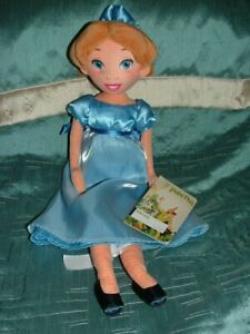 DISNEY STORE  RARE PETER PAN'S WENDY PLUSH SOFT DOLL TOY TAGGED