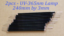 2pcs - Uv 365nm 240mm by 3mm Black Glass Lamp Replacement for Jkl Bf3240-Uv1
