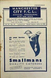 Manchester City v Chelsea  Div 1  1948/49