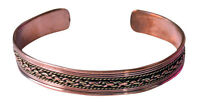 Healing Therapy Arthritis Pain Relief Pure Copper Threetone Bracelet Joint Cuff