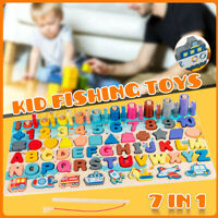 7 IN 1 Children's Fishing Intelligence  Digital Assembled Building Puzzle Toys
