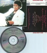 MICHAEL JACKSON-THRILLER-1982-USA-EPIC/QUINCY JONES RECORDS-CMU P 112-CD-MINT-