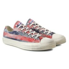 Womens Girls CONVERSE All Star STARS & BARS OX Blue Red Trainers Shoes SIZE UK 3