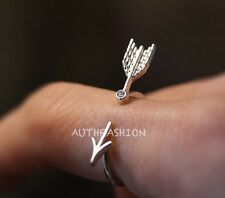 Unique BY Arrow Ring Simple Adjustable Funny Ring gift idea Free size
