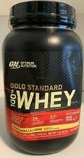 Gold Standard Whey ON 100% Whey Protein 2 lb Optimum 2lb French Vanilla Créme
