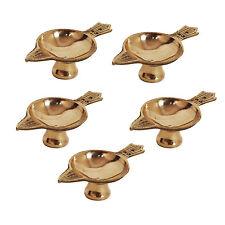 Uncommon Stuffs Brass Diya - Set of 5
