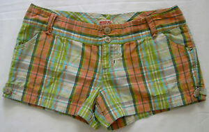 Mossimo Supply Co Plaid Shorts Size 5 Green Orange