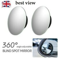 "2x BLIND SPOT MIRROR ROUND ADHESIVE 2"" INCH EASY FIT WIDE VIEW ANGLE VAN"